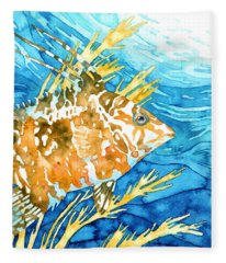 Hogfish Portrait Fleece Blanket