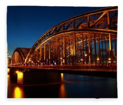 Hohenzollern Bridge Fleece Blanket