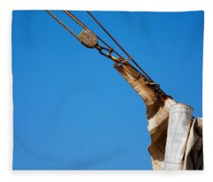 Hoist The Sails. Fleece Blanket