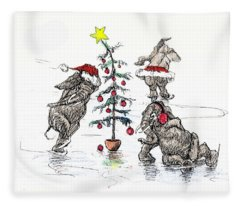 Holiday Ice Fleece Blanket