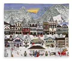 Holiday Village Fleece Blanket
