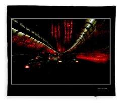 Holland Tunnel Lights Fleece Blanket