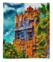 Hollywood Tower Hotel Wdw Photo Art 03 Fleece Blanket