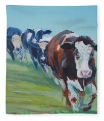 Holstein Friesian Cows Fleece Blanket