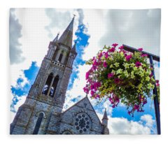 Holy Cross Church Steeple Charleville Ireland Fleece Blanket