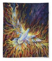 Holy Fire Fleece Blanket