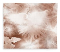 Holy Light Fleece Blanket