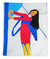 Homage To Carven Fleece Blanket