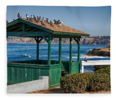 Home By The Sea Fleece Blanket