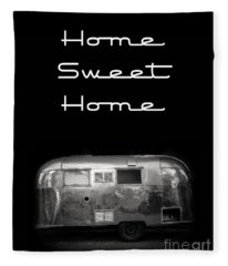 Home Sweet Home Vintage Airstream Fleece Blanket