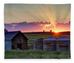 Home Town Sunset Fleece Blanket