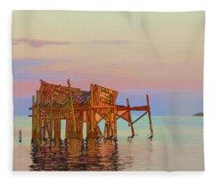 Honeymoon Cottage Fleece Blanket