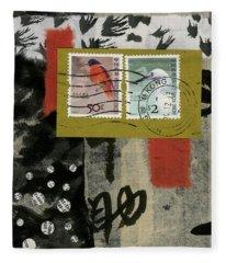 Post Cards Fleece Blankets