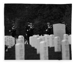 Honors For A Fallen Comrade  Fleece Blanket