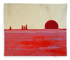 Hoodoo Sunrise Original Painting Fleece Blanket
