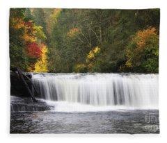 Hooker Falls In North Carolina Fleece Blanket