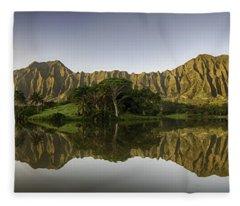 Hoomaluhia Sunrise Fleece Blanket