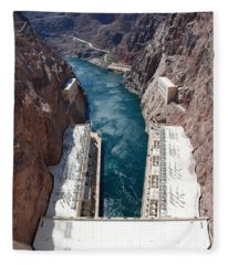 Hoover Dam Black Canyon Fleece Blanket