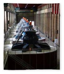 Hoover Dam Generator Room Fleece Blanket