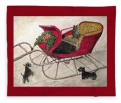 Hoping For A Sleigh Ride Fleece Blanket