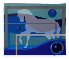 Horse And Blue Balls Fleece Blanket