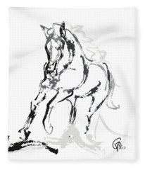 Horse- Andalusian Angel Fleece Blanket