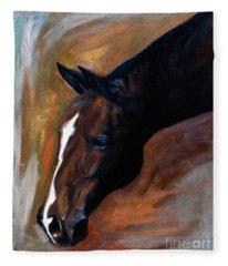 horse - Apple copper Fleece Blanket
