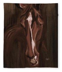 Horse Apple Warm Brown Fleece Blanket