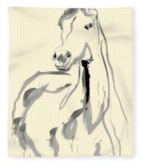 Horse - Arab Fleece Blanket