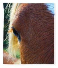 Horse Close Up Fleece Blanket