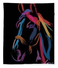 Horse-colour Me Beautiful Fleece Blanket