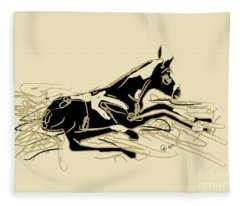 Horse-foal- Just Born Fleece Blanket