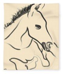 Horse-foal-pure Fleece Blanket