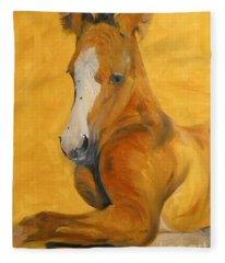 horse - Gogh Fleece Blanket