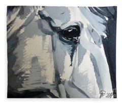 Horse Look Closer Fleece Blanket