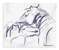 Horse - Together 10 Fleece Blanket