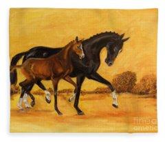 Horse - Together 2 Fleece Blanket