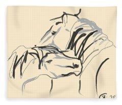 Horse - Together 4 Fleece Blanket