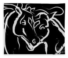 Horse- Together 5 Fleece Blanket