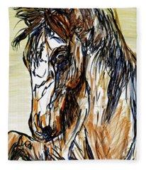 Horse Twins II Fleece Blanket