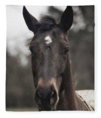 Horse With Gentle Eyes Fleece Blanket
