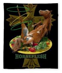 Horseflesh Fleece Blanket