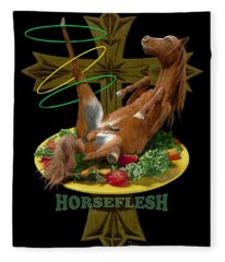 Horseflesh Fleece Blanket