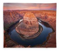 Horseshoe Dawn Fleece Blanket