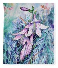 Hosta's In Bloom Fleece Blanket