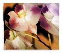 Hot Orchid Nights Fleece Blanket