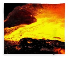 Hot Rock And Lava Fleece Blanket