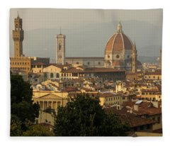 Hot Summer Afternoon In Florence Italy Fleece Blanket