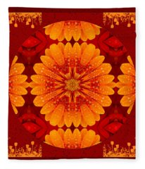 Hot Tropical Zen Fleece Blanket