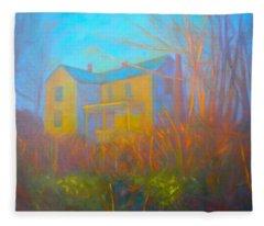 House In Blacksburg Fleece Blanket